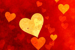 Grunge hearts Stock Photo