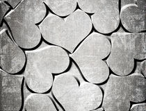 Grunge hearts. Hearts on a grunge background vector illustration