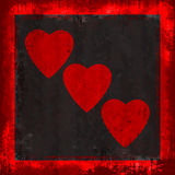 Grunge Hearts Stock Photos