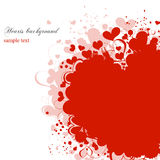 Grunge hearts background. Romantic background, grunge hearts over white Royalty Free Stock Photos