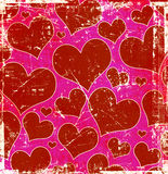 Grunge hearts background Royalty Free Stock Photos