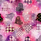 Grunge hearts background Royalty Free Stock Images