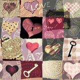 Grunge hearts background Royalty Free Stock Photos