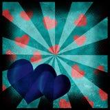 Grunge hearts background Stock Images