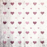 Grunge hearts mosaic background Royalty Free Stock Photography
