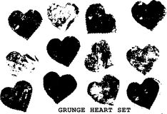 Grunge hearts Stock Photography