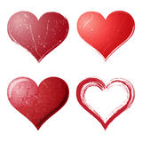 Grunge hearts set Royalty Free Stock Photo