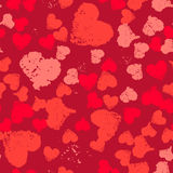 Grunge Hearts Valentine Background Painted Stock Photography