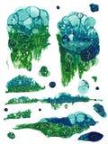 Grunge hecho a mano de la burbuja Fotos de archivo