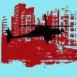 Grunge Helicopter Royalty Free Stock Photos