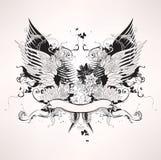 Grunge heraldic vintage design stock illustration