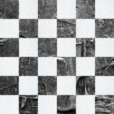 Grunge ?hess textured abstract checkered seamless pattern royalty free illustration
