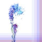 Grunge het schilderen lavendel Stock Afbeeldingen