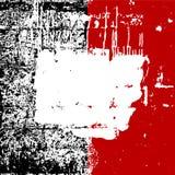 Grunge het zwarte witte rood als achtergrond, alle lagen is geïsoleerd Stock Afbeelding