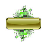 Grunge & hi-tech vector banner or button. Royalty Free Stock Image