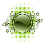 Grunge & hi-tech vector button. Stock Photos