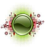 Grunge & hi-tech vector button. Stock Image