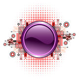 Grunge & hi-tech vector button. Stock Image