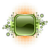 Grunge & hi-tech vector button. Royalty Free Stock Photo