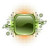 Grunge & hi-tech vector button. Royalty Free Stock Photo