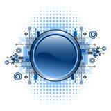 Grunge & hi-tech vector button. Stock Photos