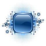 Grunge & Hi-tech Vector Button. Royalty Free Stock Photos