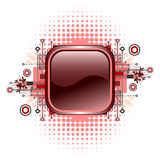 Grunge & hi-tech vector button. Royalty Free Stock Images