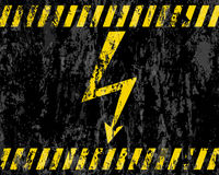 Grunge high voltage sign background Stock Photos