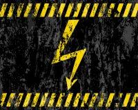 Grunge high voltage sign background Stock Photos