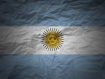 Grunge Hintergrund Argentinien-Markierungsfahne Lizenzfreies Stockbild