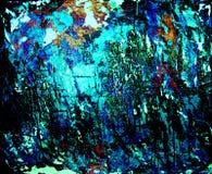 Grunge Hintergrund, Blau und Schwarzes Lizenzfreies Stockfoto