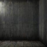 Grunge Hintergrund des konkreten Raumes Lizenzfreies Stockbild