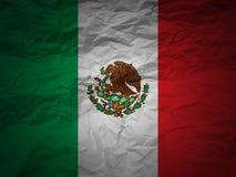 Grunge Hintergrund Mexiko-Markierungsfahne Lizenzfreie Stockfotos