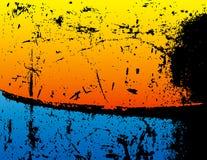 Grunge Hintergrund mit Blauem und Orange Stockfotos