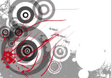 Grunge Hintergrund mit Kreisen lizenzfreie abbildung