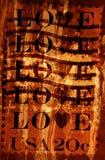 Grunge Hintergrund mit Liebe Stockbilder