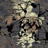 Grunge Hintergrund mit schwarzem Splatter Stockfotos