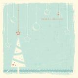 Grunge Hintergrund mit Weihnachtsbaum Lizenzfreie Stockbilder