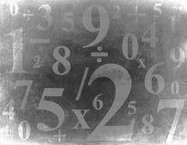 Grunge Hintergrund mit Zahlen Stockfotos