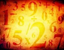 Grunge Hintergrund mit Zahlen Lizenzfreies Stockbild