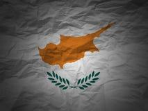 Grunge Hintergrund Zypern-Markierungsfahne Stockbilder