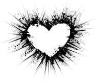 Grunge hjärta Arkivfoton