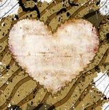Grunge hjärta Vektor Illustrationer