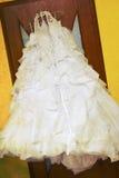 Grunge Hochzeitskleid Stockfoto