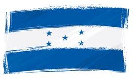 Grunge Honduras flag. Honduras national flag created in grunge style Stock Image