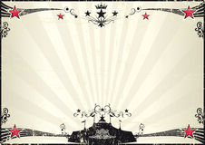 Grunge horizontal circus poster Royalty Free Stock Photo