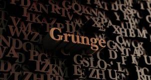 Grunge - Houten 3D teruggegeven brieven/bericht Royalty-vrije Stock Afbeelding