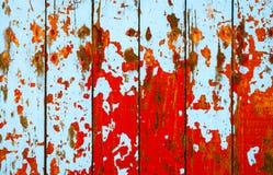 Grunge houten die achtergrond in rood wordt geschilderd stock illustratie