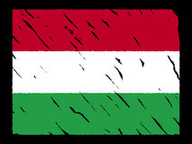 Grunge Hungarian flag Royalty Free Stock Photography