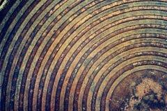 Grunge i brudny metal groszkujemy teksturę z ośniedziałym Fotografia Stock